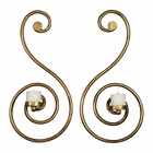 Uttermost Lucetta Gold Scroll Wall Sconces Set of 2