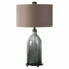 Uttermost Massana Gray Glass Table Lamp