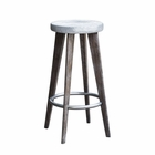 Uttermost Maxen Hammered Top Bar Stool