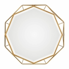Uttermost Mekhi Antiqued Gold Mirror