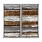 Uttermost Metallic Layers Modern Art S/2