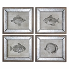 Uttermost Mirrored Fish Framed Art S/4