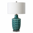 Uttermost Monferrato Smoke Blue Table Lamp
