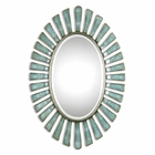 Uttermost Morvoren Blue Gray Oval Mirror