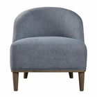 Uttermost Nerine Silver Blue Accent Chair