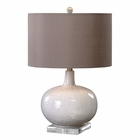 Uttermost Parvati White Glaze Table Lamp