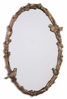 Uttermost Paza Oval Vine Gold Mirror