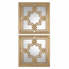 Uttermost Piazzale Gold Square Mirrors set of 2