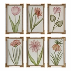 Uttermost Pretty In Pink Floral Art S/6