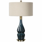 Uttermost Prussian Blue Ceramic Lamp