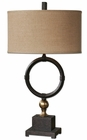 Uttermost Pueblo Black Circle Table Lamp