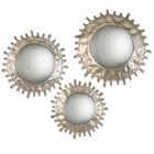 Uttermost Rain Splash Round Mirrors set of 3