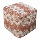 Uttermost Rewa Beige/Brown Pouf