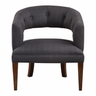Uttermost Ridley Charcoal Linen Accent Chair