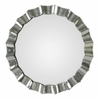 Uttermost Sabino Scalloped Round Mirror