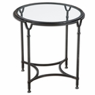 Uttermost Samson Glass Side Table