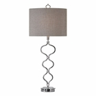 Uttermost Serpico Polished Nickel Table Lamp