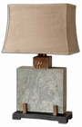 Uttermost Slate Square Table Lamp