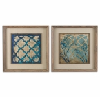 Uttermost Stained Glass Indigo Art Set/2