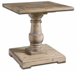 Uttermost Stratford Pedestal End Table
