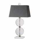 Uttermost Telesino Crystal Disk Table Lamp