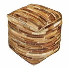 Uttermost Tiago Medium Brown Pouf