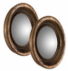 Uttermost Tropea Rounds Wood Mirror set of 2
