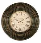 "Uttermost Trudy 38"" Wooden Wall Clock"