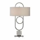 Uttermost Vaaler Brushed Nickel Table Lamp