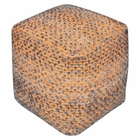 Uttermost Valda Orange Wool Pouf