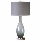 Uttermost Vallo Smoke Gray Glass Lamp