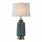 Uttermost Vallon Dark Blue-Green Lamp
