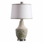 Uttermost Veteris Concrete Design Lamp