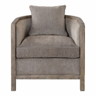 Uttermost Viaggio Gray Chenille Accent Chair