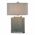 Uttermost Virelles Sage Gray Ceramic Lamp