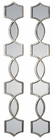 Uttermost Vizela Metal Mirrors set of 2
