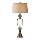 Uttermost Wallonia Antiqued Brass Table Lamp