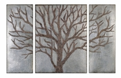 Uttermost Winter View Rustic Tree Mirror Set of 3
