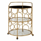 Uttermost Xandra Gold Serving Cart