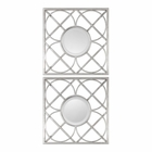 Uttermost Yasmina Silver Square Mirrors set of 2