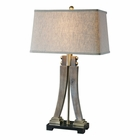 Uttermost Yerevan Wood Leg Lamp