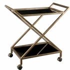 Uttermost Zafina Gold Bar Cart