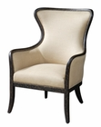 Uttermost Zander Tan Wing Back Armchair