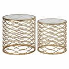 Uttermost Zoa Gold Accent Tables Set/2