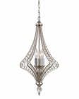 ELK Ventoux Collection 3 Light Chandelier in Satin Silver EK-46061-3