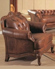 Victoria Rolled Arm Leather Chair CO500683