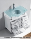 Vincente 32in Single Vanity in White by Virtu USA VU-MS-32-WH