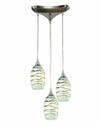 ELK Vines Collection 3 Light Chandelier in Satin Nickel EK-31348-3MN