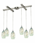 ELK Vines Collection 6 Light Chandelier in Satin Nickel EK-31348-6MN