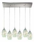 ELK Vines Collection 6 Light Chandelier in Satin Nickel EK-31348-6RC-MN